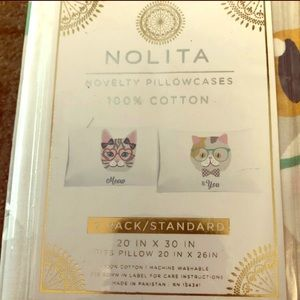 Other - Meow & You 2 Standard Pillowcase
